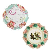 Talking Tables Pastries & Pearls Vintage Style Paper Plates for a Tea Party or Birthday, Multicolor...