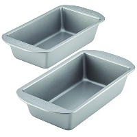Farberware 46405 Nonstick Bakeware 2 Piece Loaf Pan Set, Gray, 2-Pack