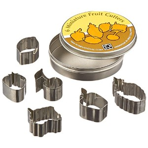 R & M Set of 6 Minature Fruit Themed Cookie/Pie Crust Cutters Beautiful Results and Easy to Use - 2...