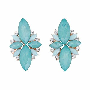 Elegant Opal Stone Stud Earrings for Women