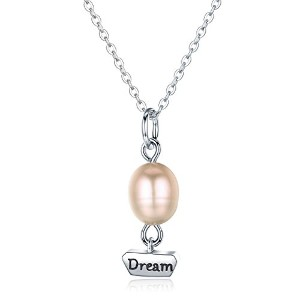 BISAER Fashion Pearl Necklace パールネックレス レディースエレガントネックレス シルバー925 首飾り