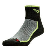 DRYMAX(ドライマックス) Trail Running 1/4 Crew Turndown S Lime×Black