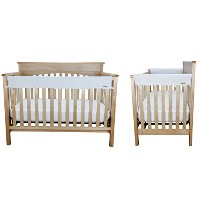 White Fleece 3 Piece CribWrap Convertible Crib Rail Cover Set by Trend Lab