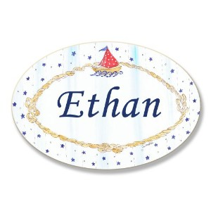 The Kids Room by Stupell Ethan, Sailboat and Stars Personalized Oval Wall Plaque by The Kids Room...