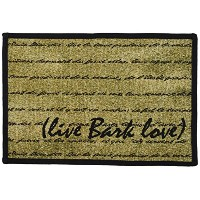 PB PAWS PET COLLECTION BY PARK B. SMITH Live Bark Love Tapestry Indoor Outdoor Pet Mat, 13 x 19,...