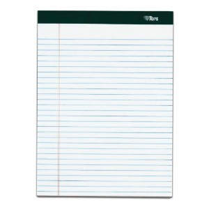 Double Docket Ruled Pads, Narrow Rule, Ltr, White, 4 100-Sheet Pads/Pack (並行輸入品)