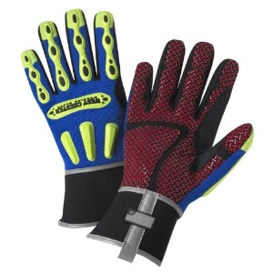West Chester 81.386712B-XL R2 Safety Rigger Glove with Long Neoprene Cuff Blue