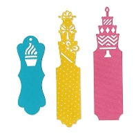 Sizzix Thinlits Dies 3/Pkg By Where Women Cook-Celebrate Tags (並行輸入品)