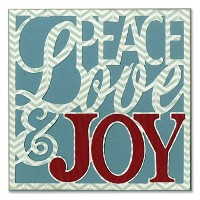 "Sizzix Thinlits Dies 4/Pkg-Peace, Love & Joy Card Front For 5""X5"" (並行輸入品)"