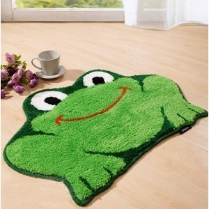 Wuudi Cartoon Frog 45*65 cm Carpet Water Absorption Non-slip Bedroom Bathroom Door Mat by wuudi