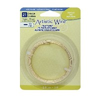 Artistic Wire 21-Gauge Flat 5mm by .75mm, 3-Feet, Gold by Artistic Wire