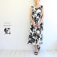 【sale20%off】【返品不可】【送料無料】ina(イナ) フラワープリント後ろタックワンピース///