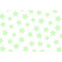 SheetWorld Fitted Pack N Play (Graco) Sheet - Pastel Green Stars Woven - Made In USA by sheetworld