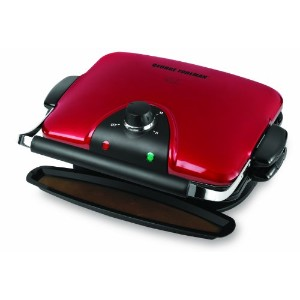 George Foreman 84-Inch Removable Plate Grill, Red by George Foreman