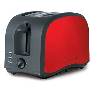 Continental Electric 2-Slice Metallic Red Toaster by Continental Electric