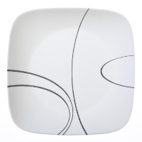 Corelle Square Simple Lines Dinner Plate Set, by CORELLE