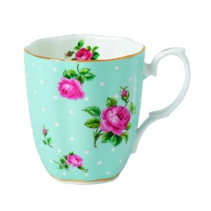 Royal Albert Vintage Mug-Polka Blue by Royal Albert