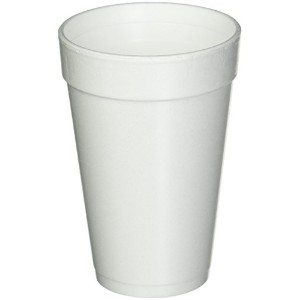 16 Oz. White Disposable Drink Foam Cups Hot and Cold Coffee Cup by Go Party