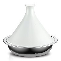 Cooks Standard NC-00360 Multi-Ply Clad Stainless Steel Tagine with Extra Glass Lid, 4.5-Quart by...