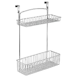InterDesign Classico Over Cabinet Two Tier Basket, Chrome by InterDesign