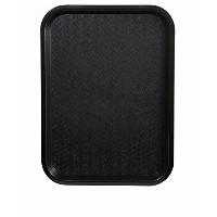 Winco Fast Food Tray, 12 by 16-Inch, Black, Set of 6 by Winco