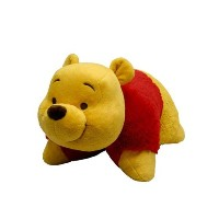 "クマのプーさん 枕 Pillow Pets - Winnie The Pooh - Authentic Disney- Large 18"" Folding Plush Pillow 並行輸入品"