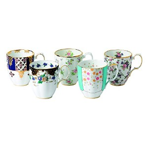 Royal Albert 5 Piece 100 Years 1900-1940 Mug Set, 14.1 oz, Multicolor by Royal Albert