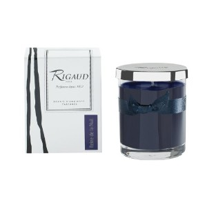 """Rigaudパリ、Reine de la nuit Bougie D 'ambiance Parfumee、Small Candle """" Modele Complet """" w /メタルシルバーSnuf..."""