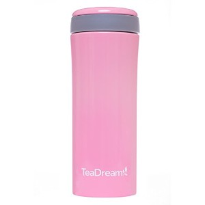 TeaDream Travel Mug (Tumbler) with Tea Strainer, Stainless Steel, 12 oz by TeaDream