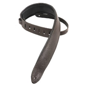 Levy's Leathers MG12PDX-DBR Sangle en cuir rembourrée Marron foncé 64 mm