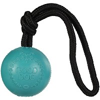 Harry Barker Rubber Good Dog Ball With Rope - Green by Harry Barker