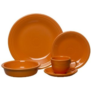 Fiesta 5-Piece Place Setting, Tangerine by Unknown