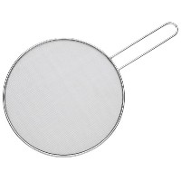 HIC Splatter Screen Guard Strainer, 18/8 Stainless Steel, Fine Mesh, 11-Inches by HIC Harold Import...