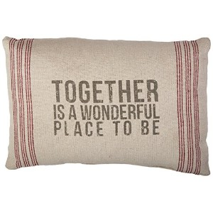 Primitives by Kathy 9-Stripe Together Pillow, 14.5-Inch by 10-Inch by Primitives By Kathy