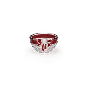 Celebrations by Mikasa Ruby Ribbon Candy Dish, 4-3/4-Inch by Mikasa