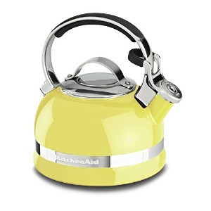 KitchenAid KTEN20SBIS 2.0-Quart Kettle with Full Stainless Steel Handle and Trim Band - Citrus...