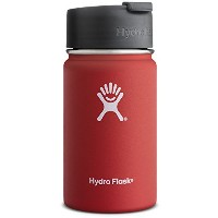 Hydro Flask 12 oz Vacuum Insulated Stainless Steel Water Bottle, Wide Mouth w/Hydro Flip Cap, Lava...