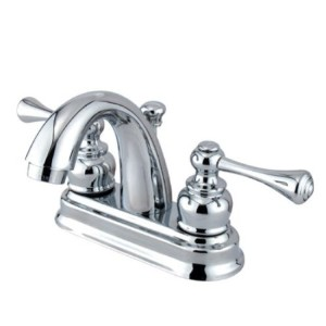 Kingston Brass KB5611BL Two Handle 4 in. Centerset Lavatory Faucet with Retail Pop-up