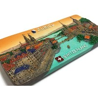 Swiss Zurich Switzerland Souvenir Collection 3D Fridge Refrigerator Magnet Hand Made Resin by Mr...