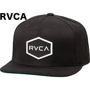 RVCA Commonwealth II Snapback Hat Cap Black キャップ 並行輸入品