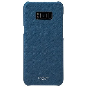 """GRAMAS COLORS """"EURO Passione"""" Shell Leather Case for Samsung Galaxy S8+ (Galaxy S8+, Navy)"""