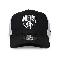 (ニューエラ) NEW ERA BROOKLYN NETS 【D-FRAME TRUCKER MESH CAP/BLK-WHT】 ブルックリン ネッツ
