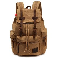 Bronze Times バックパック 背負カバン リュックサック プレッピー 帆布 旅行 カジュアル Large Capacity European Style Canvas Backpack...