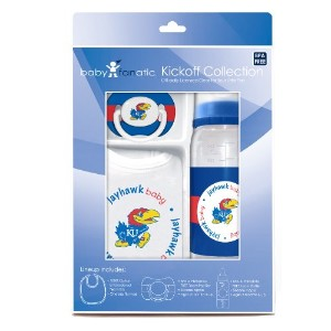 Baby Fanatic Gift Set, University of Kansas (Discontinued by Manufacturer) by Baby Fanatic