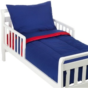 American Baby Company 100% Cotton Percale 4-piece Toddler Bed Set, Red/Royal by American Baby...