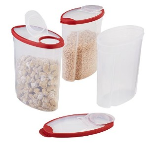 Rubbermaid Modular Cereal Container, Red, (1777197) by Rubbermaid