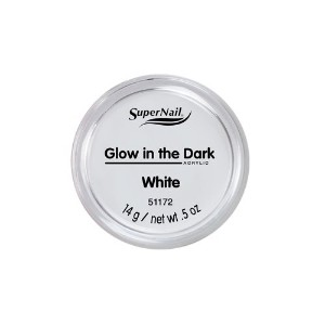 SuperNail Glow in the Dark Acrylic Powder - White - 0.5oz / 14g