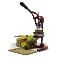 Heavy Duty Commercial Large Manual Citrus Juicer - Manual Press Fruit Juice Extractor (Red) by...