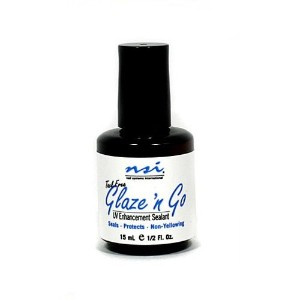 NSI Nail Treatments - Glaze 'n Go LED Tack Free Gel Sealant - 0.5oz / 15ml
