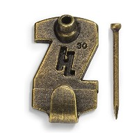 HangZ 33020 Gallery Picture Hooks, 30lb, Antique Brass, 15-Pack by HangZ